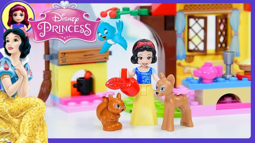 Snow White's Forest Cottage Lego Disney Princess Junior Set Build Review Silly Play Kids Toys