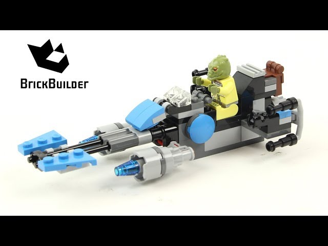 Lego Star Wars 75167 Bounty Hunter Speeder Bike Battle   – Lego Speed Build