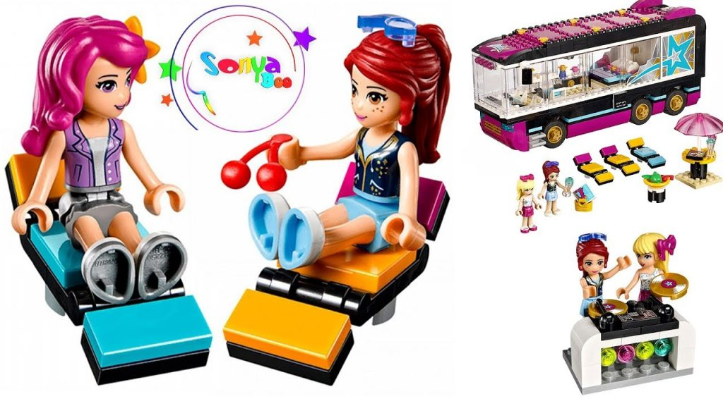 ОБЗОР АВТОБУС ЗВЕЗДЫ / Lego Friends Pop Star Tour Bus Set Build Review and Silly Play – Kids Toys