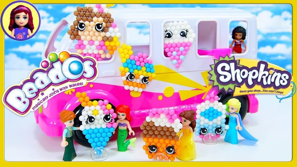 Beados Shopkins Ice Cream Truck Season 7 DIY Craft with Lego Disney Princesses