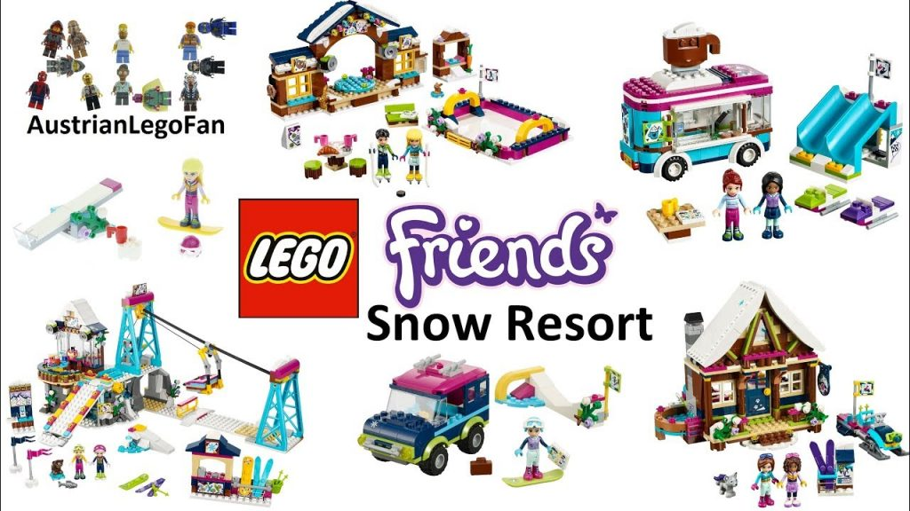 All Lego Friends Snow Resort Sets 2017 Compilation – Lego Speed Build Review