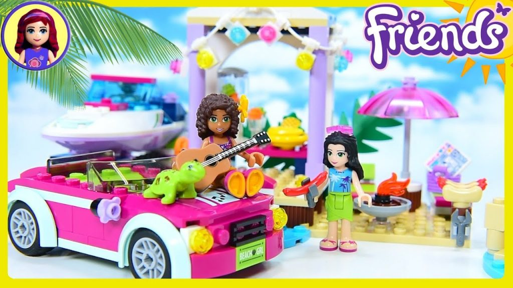 Lego Friends Andrea's Speedboat Transporter Beach Party Build Review Silly Play Kids Toys