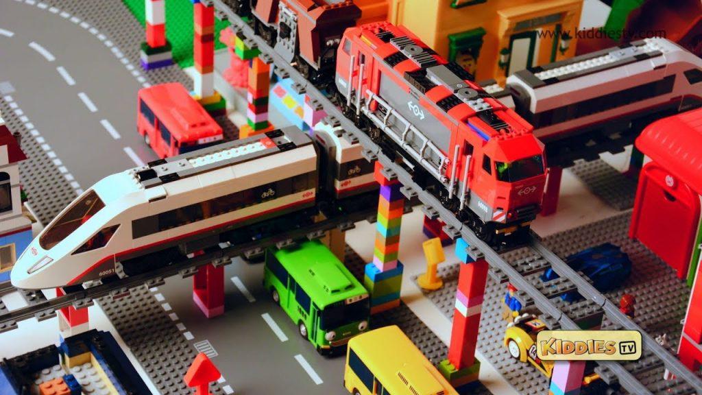 Lego City High Speed Passenger Train Story | 60051 and 60098 train crash | Preschool | Kindergarten