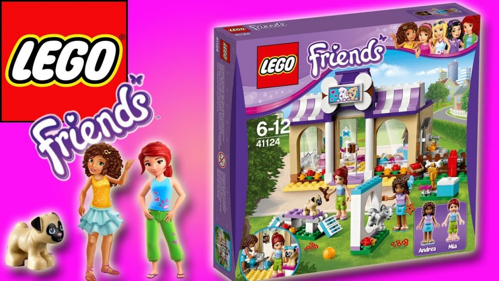 LEGO FRIENDS – HEARTLAKE PUPPY DAYCARE – BUILD & PLAY | Little Kelly & Friends ToysReview for Kids