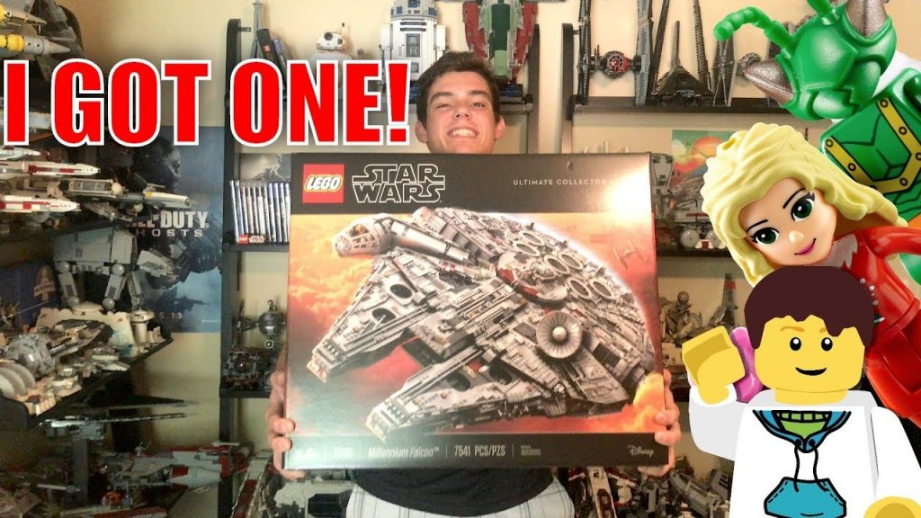 I GOT A LEGO Star Wars UCS MILLENNIUM FALCON!   LEGO Store Vlog!   75192 BIGGEST LEGO SET EVER MADE!