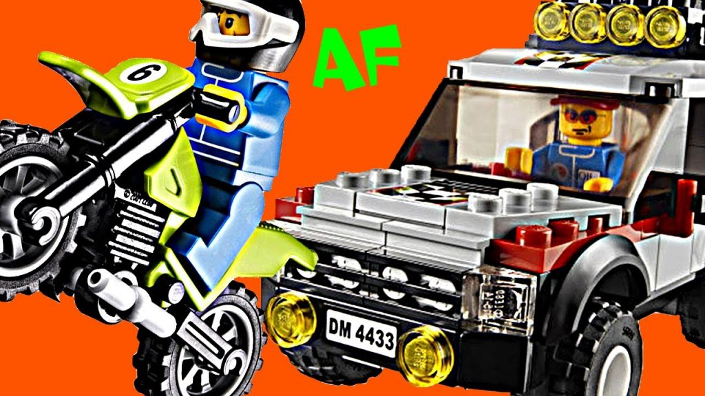 Lego City DIRT BIKE Transporter 4433 Stop Motion Build Review