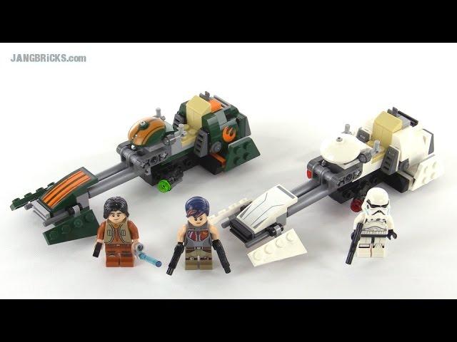 LEGO Star Wars Ezra's Speeder Bike review! set 75090