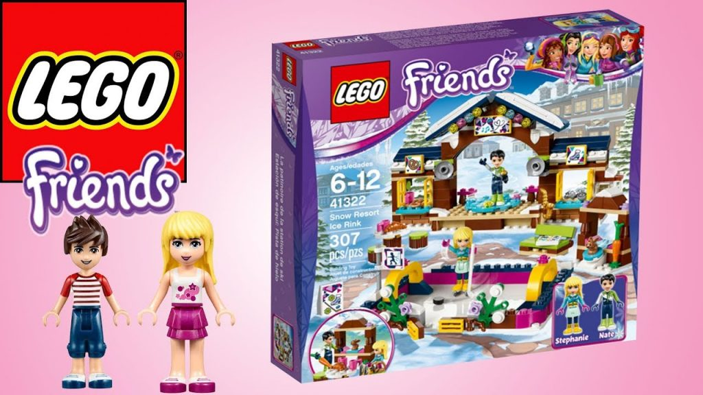 LEGO FRIENDS SNOW RESORT ICE RINK – BUILD & PLAY | Little Kelly & Friends ToysReview for Kids