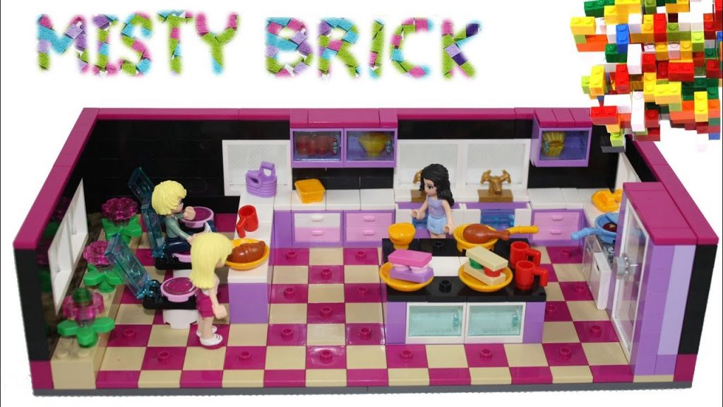 Lego Friends Dark Kitchen Room by Misty Brick.