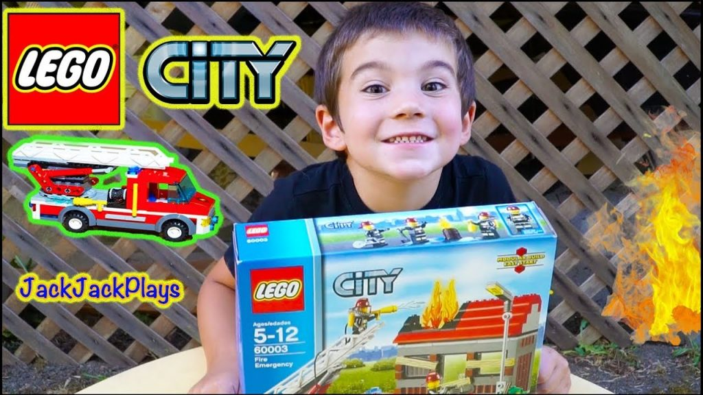 Lego Fire Trucks for Kids: Unboxing, Building, Playing with Lego City Fire Emergency Set
