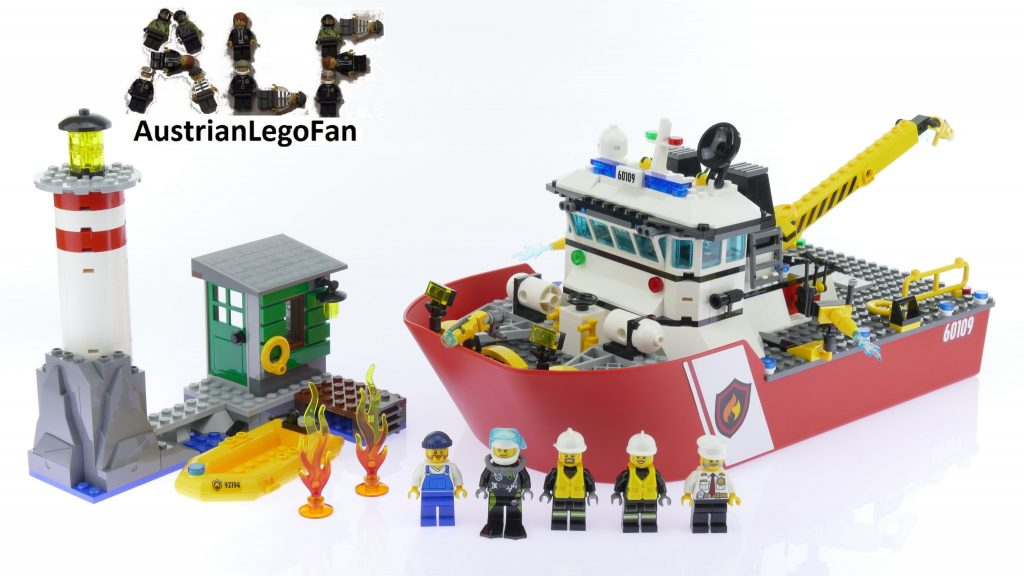 Lego City 60109 Fire Boat – Lego Speed Build Review