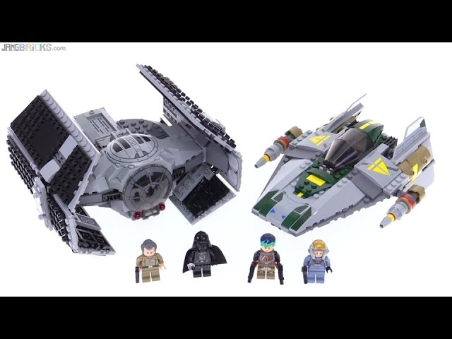 LEGO Star Wars Vader's TIE Advanced vs. A-Wing review! 75150