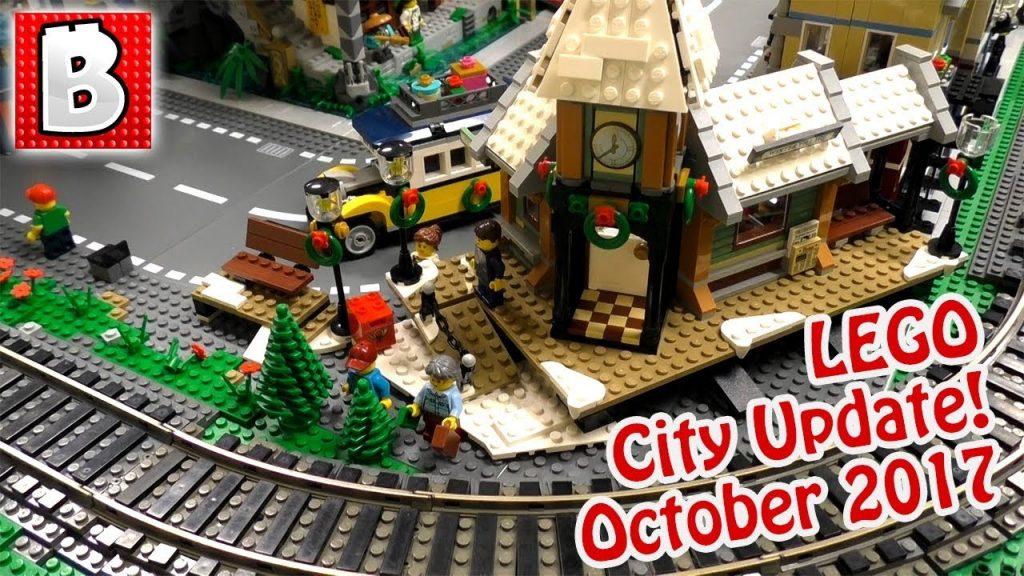 LEGO Brick Vault City Update! 10259 Winter Village Station Added! | October 2017
