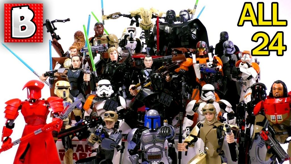 Every LEGO Star Wars Buildable Figure Ever Made!!! Big Collection