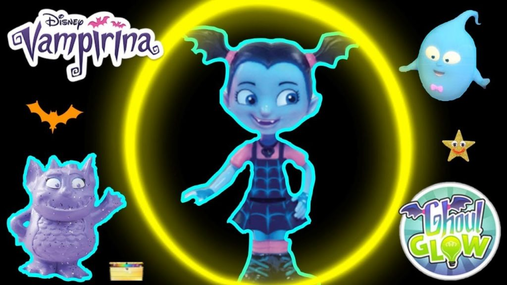 Where's VAMPIRINA GAME + Glowtastic Friends Toys (GHOUL GLOW IN THE DARK FIGURES)