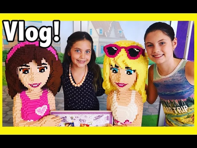 Dreamworld theme park fun & Lego store Crafty Kids Vlog 1 – Lego friends and amusement park rides