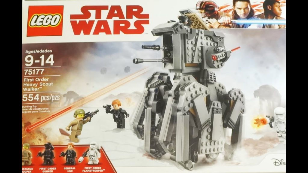 """LEGO """"Star Wars: The Last Jedi"""" First Order Heavy Scout Walker UNBOXING / BUILD / REVIEW"""