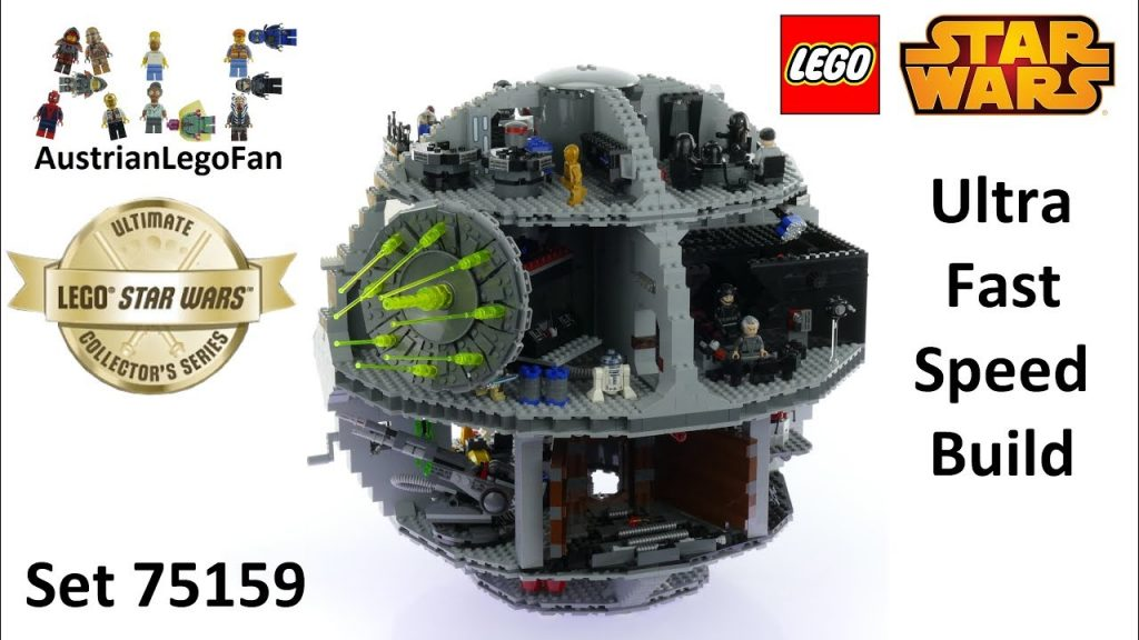 Ultra Fast Speed Build Lego Star Wars 75159 Death Star 2016 Ultimate Collector Series