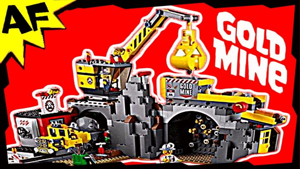 Lego City GOLD MINE 4204 Stop Motion Build Review