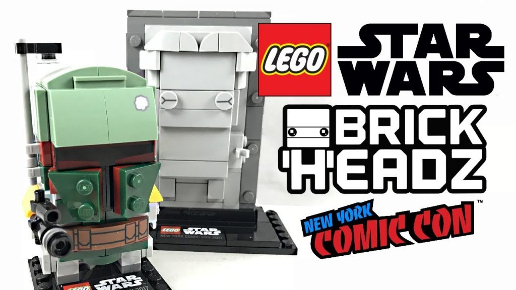 LEGO Star Wars Boba Fett and Han Solo in Carbonite Brick Headz review! 2017 set 41498!