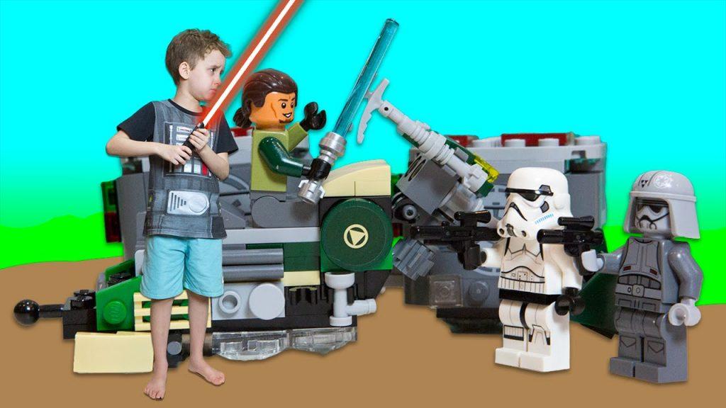 Lego Star Wars Speeder Bike Do Kanan – Paulinho Brincando com Brinquedos Lego