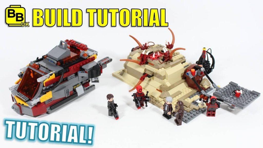 LEGO STAR WARS 75180 SARLACC SHOWDOWN BUILD TUTORIAL