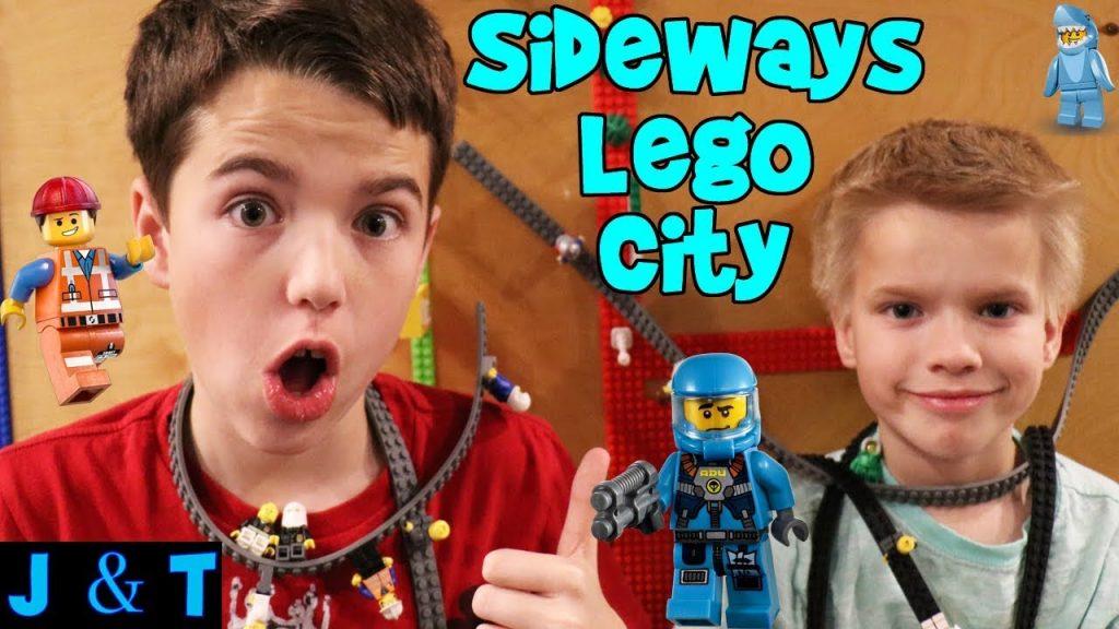 LEGO CITY SIDEWAYS!! / Jake and Ty