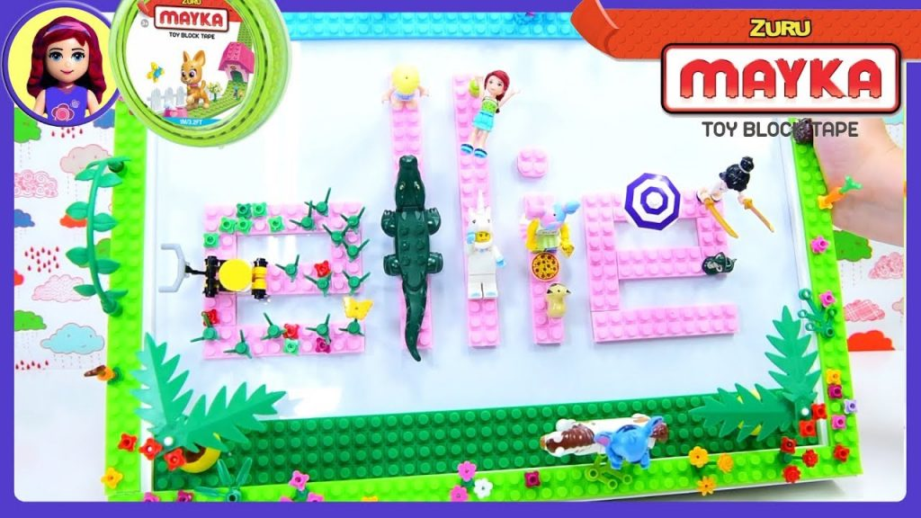 DIY Make Your Own Name Frame with Mayka Block Tape – Decorate with Lego Craft