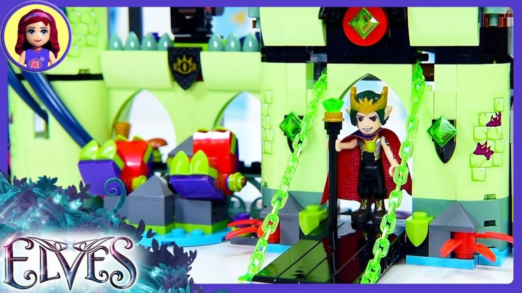 Lego Elves Breakout from the Goblin King's Fortress Build Review Silly Play – Kids Toys