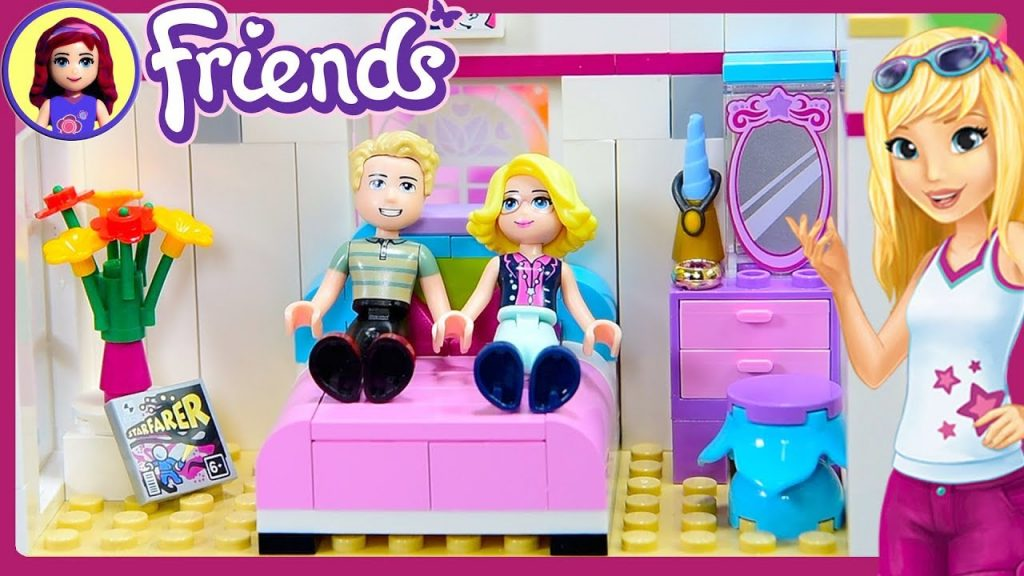 CUSTOM Parent's Room for Stephanie's House Lego Friends Renovation Build DIY Craft – Kids Toys