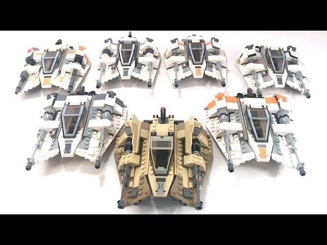 LEGO Star Wars Snowspeeders Sets Compared! | 7130, 4500, 7666,8089, 75014, 75049, 75098 |