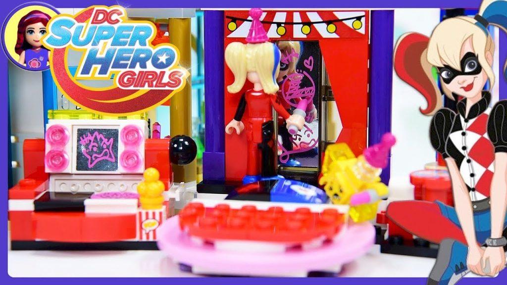 Lego DC Superhero Girls Harley Quinn Dorm Build Review Silly Play – Kids Toys