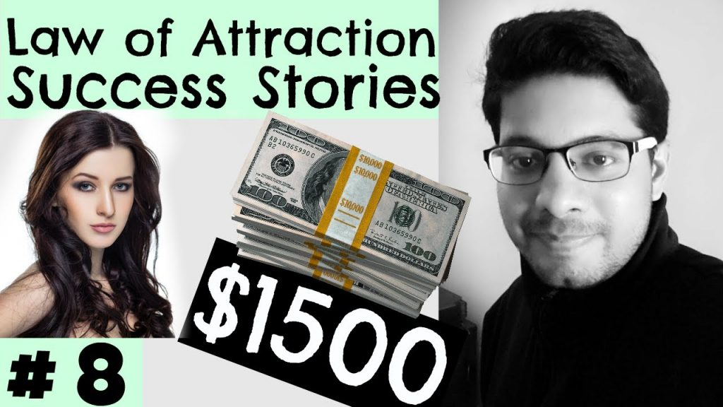 Law of Attraction Success Series #8 – Manifested 1500 dollars, awesome skin, exam success, gratitude
