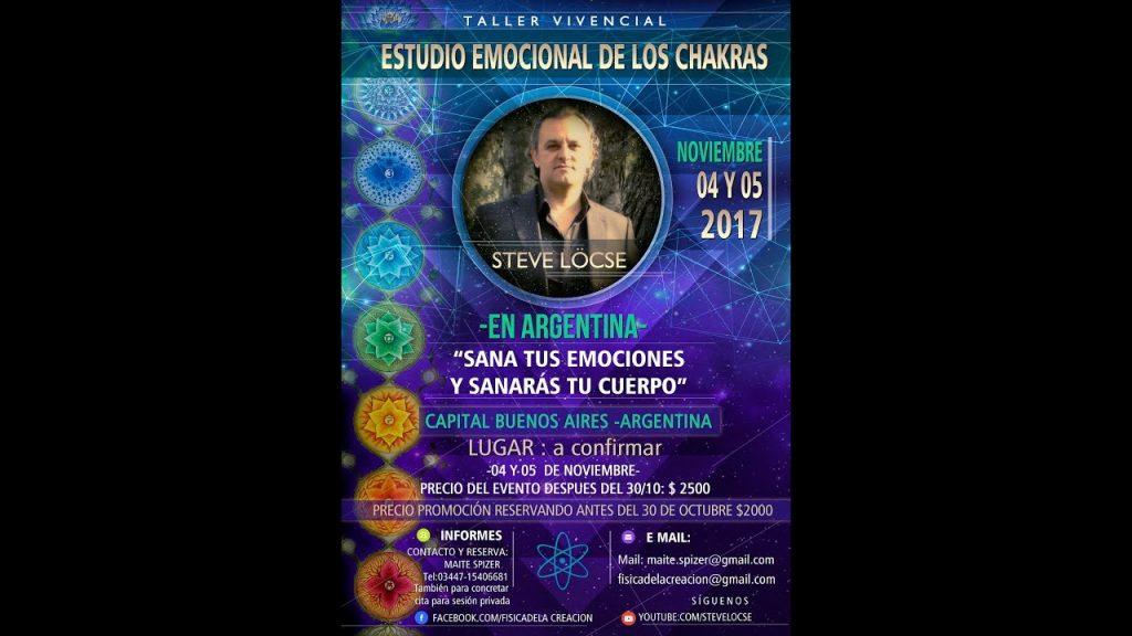Invitación al Taller Vivencial Limpieza Emocional de los Chakras de Buenos Aires, noviembre 2017