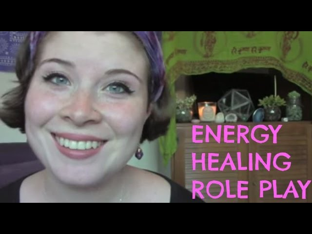 ASMR Energy Healing Role Play Soft speaking/whisper (w/ some gum chewing)