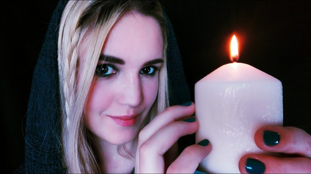 ASMR Dark Reiki Role Play & Energy Healing with Candle, Reiki Symbols and Crystals (ENG, Whisper)