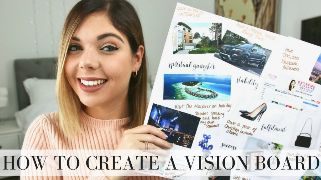 HOW TO CREATE A VISION BOARD | LAW OF ATTRACTION | Emma Mumford