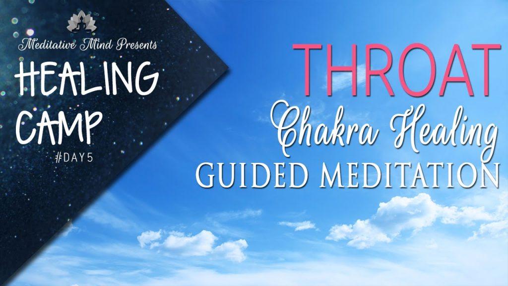Throat Chakra Healing Guided Meditation   Healing Camp 2016   Day #5