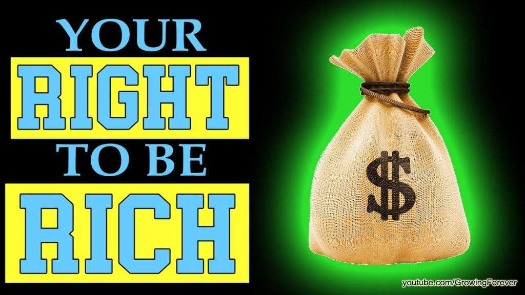 Your Right To Be Rich. Law of Attraction, Money, Subconscious Mind Power