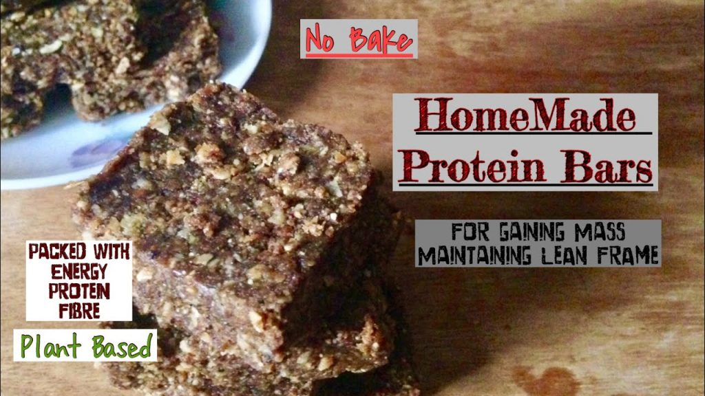 HomeMade Protein Bars | How to Make Protein Bars at Home for gaining Mass | Healthy Plant Based