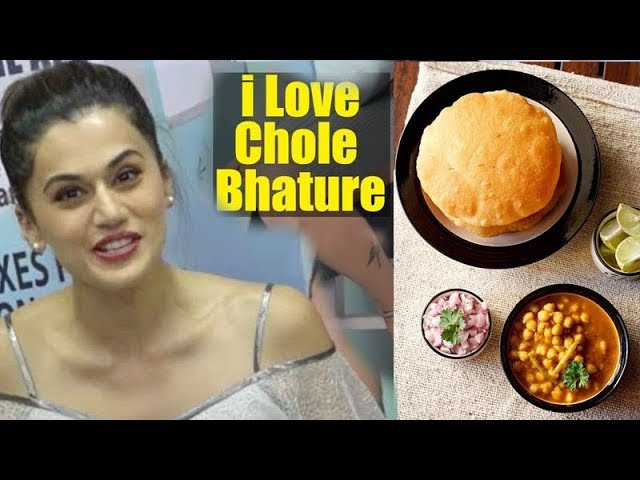 I Love To Eat Delhi Dish Chole Bhature | Taapsee Pannu | Health And Nutrition Magazine