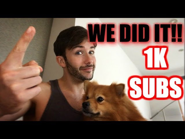 1000 SUBSCRIBERS on Youtube! Thank you!