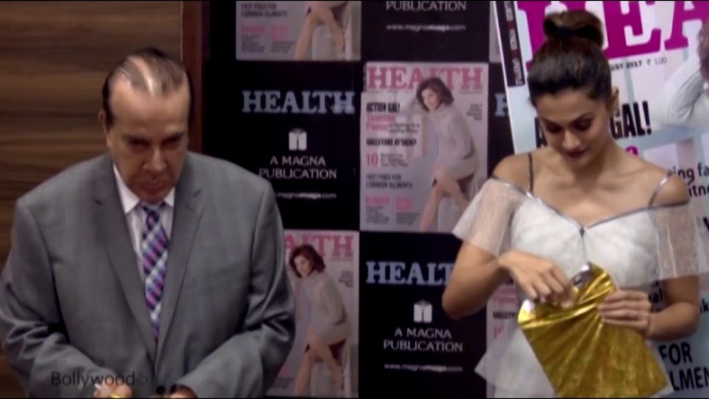 Taapsee Pannu पोह्ची HEALTH and NUTRITION के Magazine Launch पर
