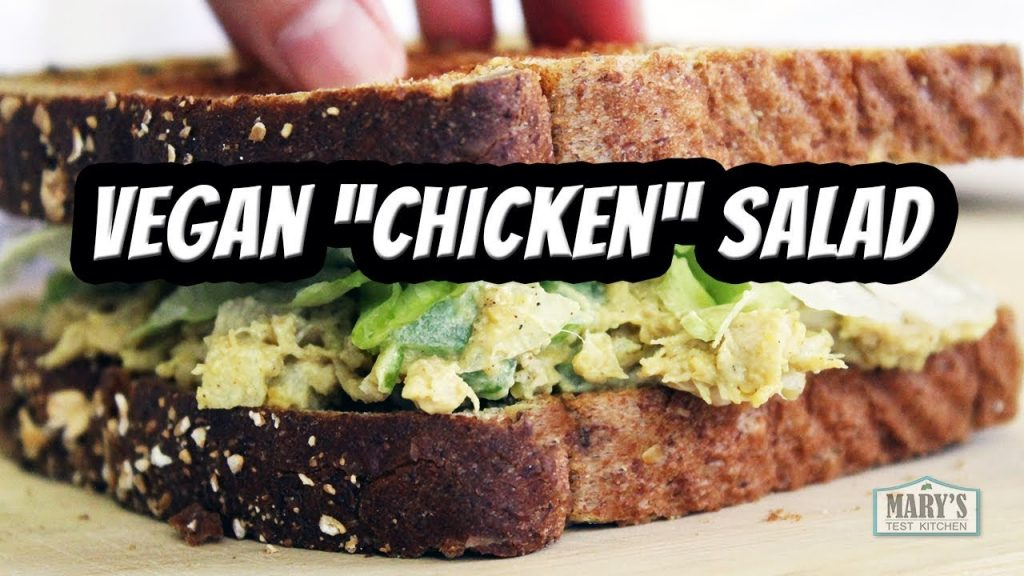 HOW TO MAKE VEGAN 'CHICKEN' SALAD (WITH JACKFRUIT!)| Recipe by Mary's Test Kitchen