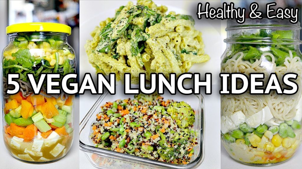 EASY HEALTHY VEGAN LUNCH RECIPES (BACK TO SCHOOL / WORK)