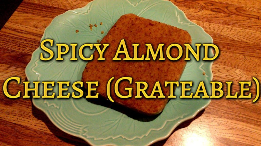 Spicy Vegan Almond Cheese (Grateable) – Great for use on Pizza & Pasta