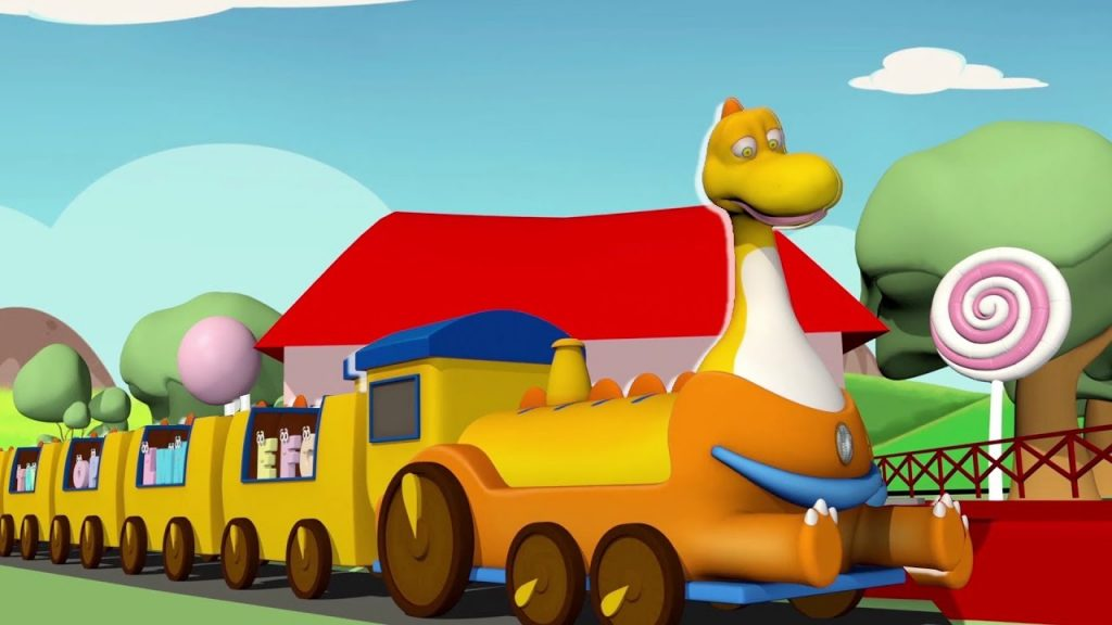 Train nursery rhymes for children | Dinosaur Kids Songs | Trailer | Baby Toonz Kids TV
