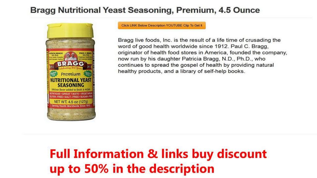 Bragg Nutritional Yeast Seasoning, , 4.5 Ounce