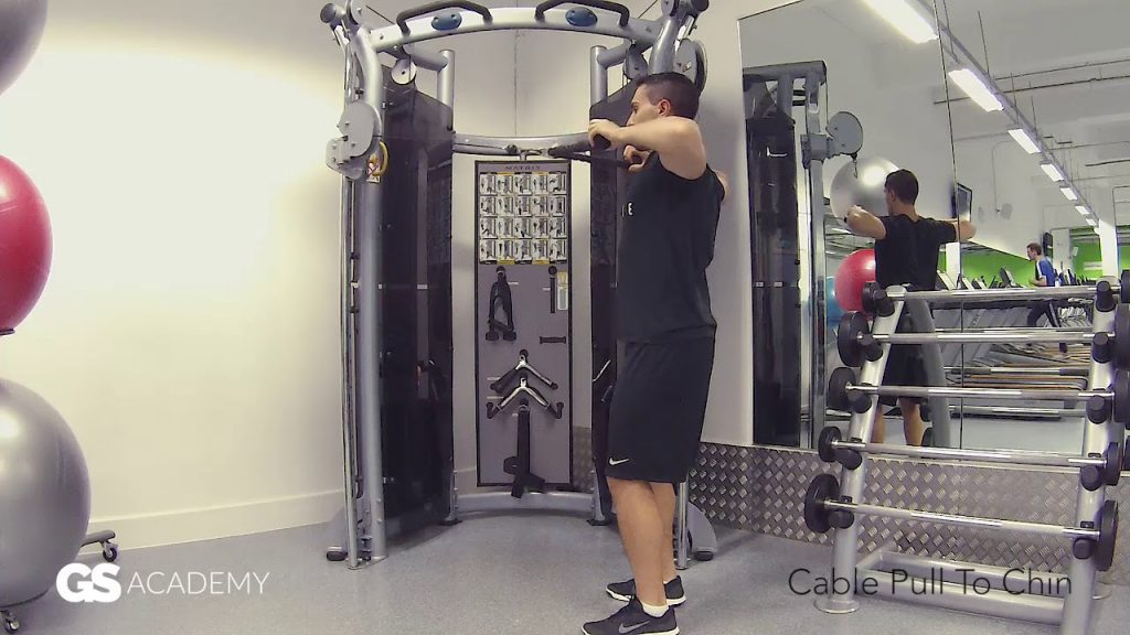 GS Health Fitness –  Cable Pull To Chin