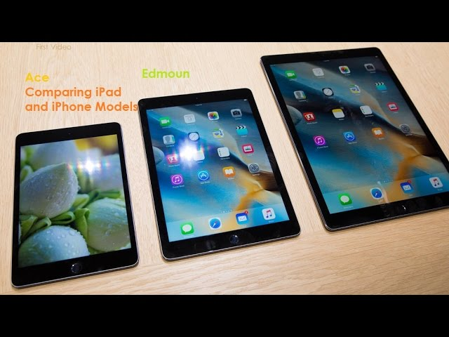 Ace – Comparing iPad and iPhone Models